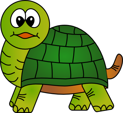 Inscape drawing cartoon. Coloring pages turtles free