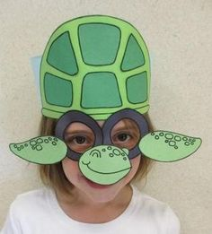 Tortoise clipart mask. Print and colour in