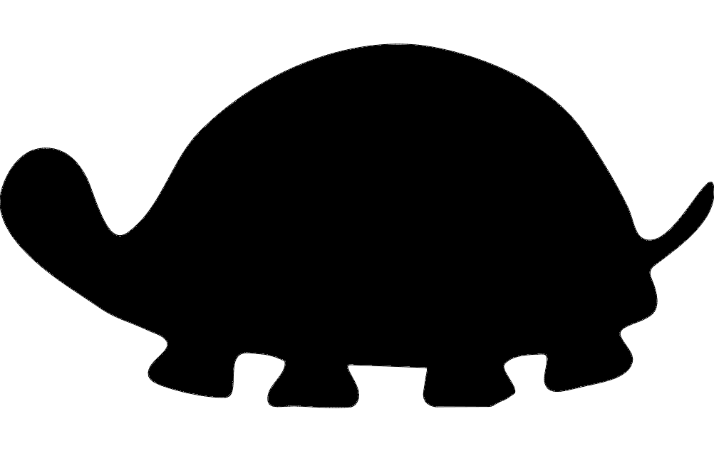 Tortoise clipart silhouette. Turtle dxf file free