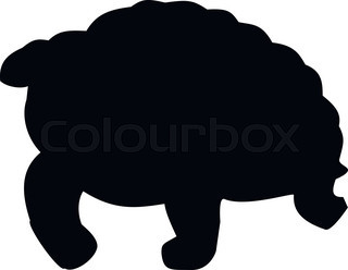 Tortoise clipart silhouette. Of a turtle at