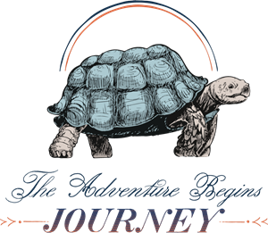 Tortoise vector galapagos. Journey and travel logo