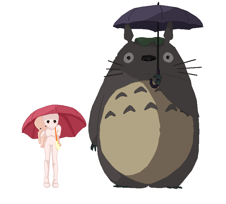 Base standing in the. Transparent totoro umbrella banner