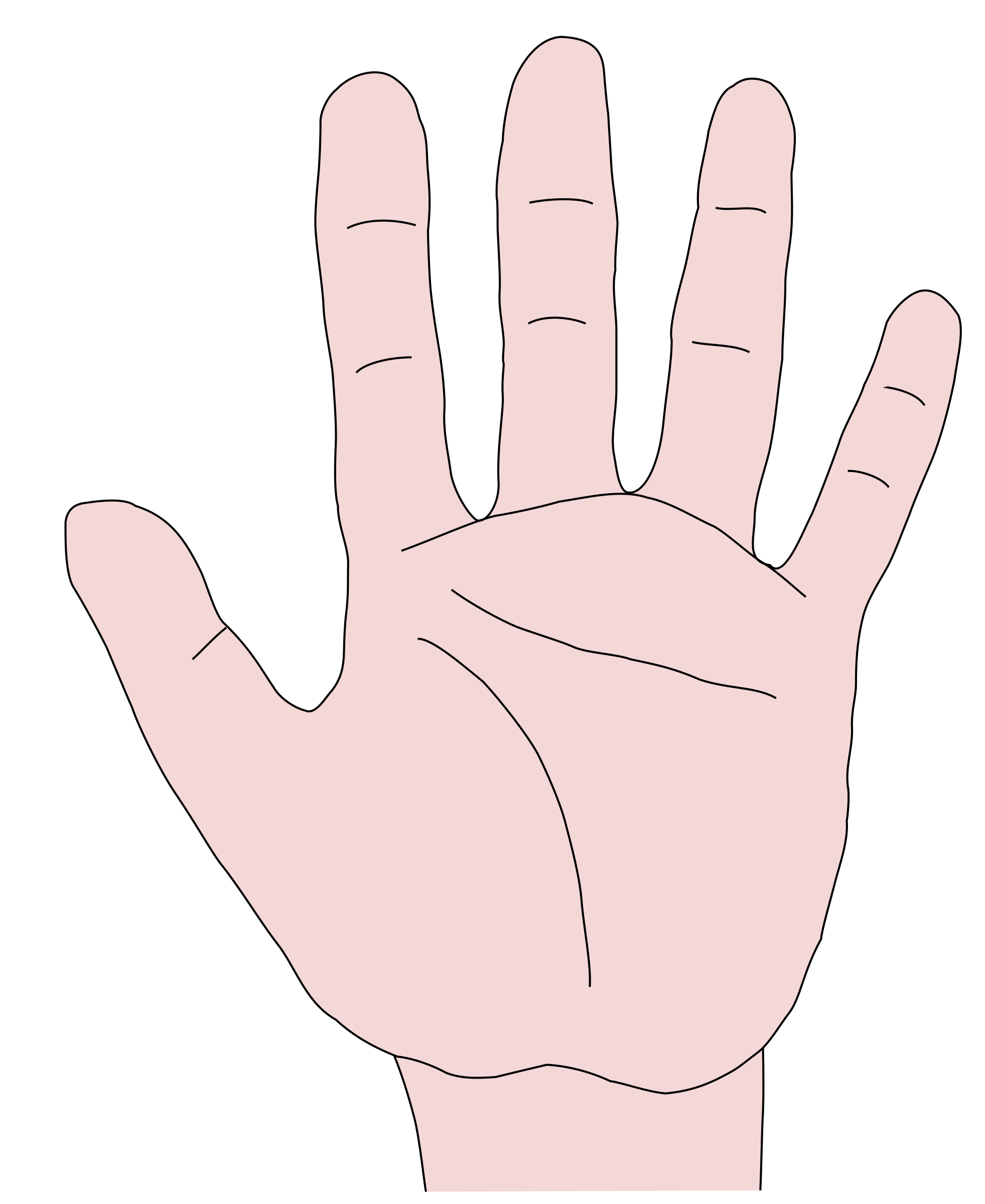 Touch clipart big hand.
