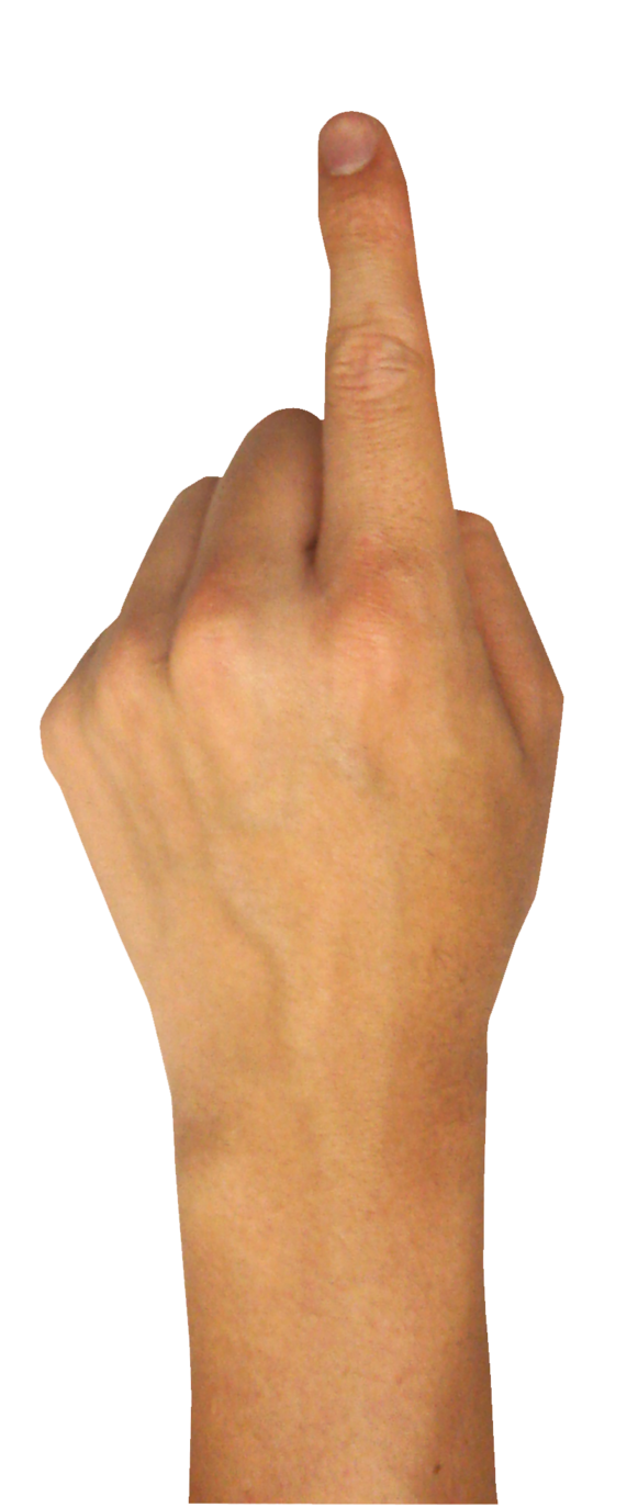 one finger png
