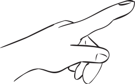 Touch clipart gently. How to do gentle