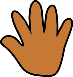 handprint transparent orange