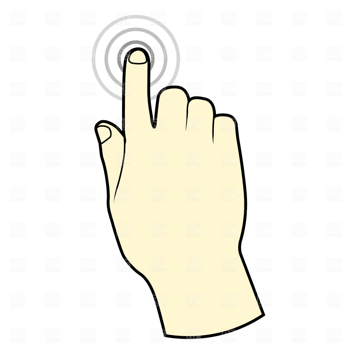 Touch clipart number 1 finger. Best of collection digital