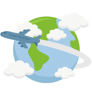 traveler vector round world