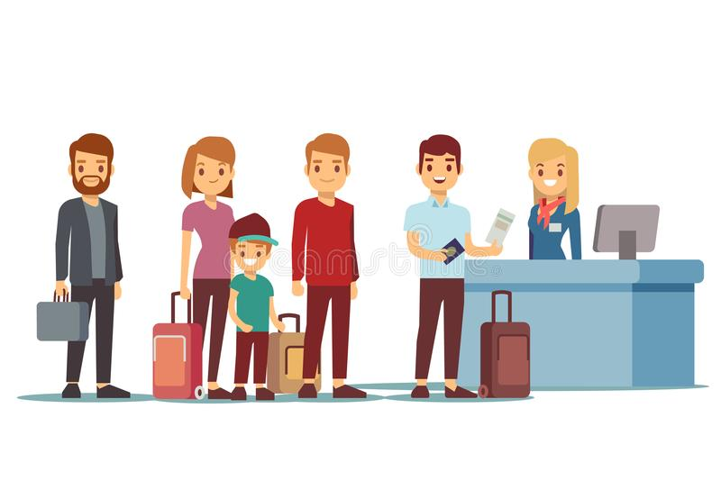 Tourist clipart queue. People in airport at banner transparent download