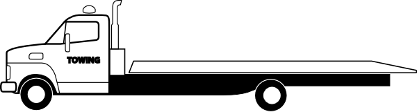 Tow clipart rollback wrecker. Flatbed truck