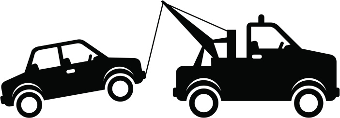 Tow clipart. Towing car