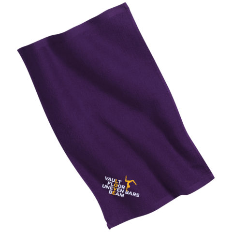 Towel on the floor png. Love gymnastics embroidered gym