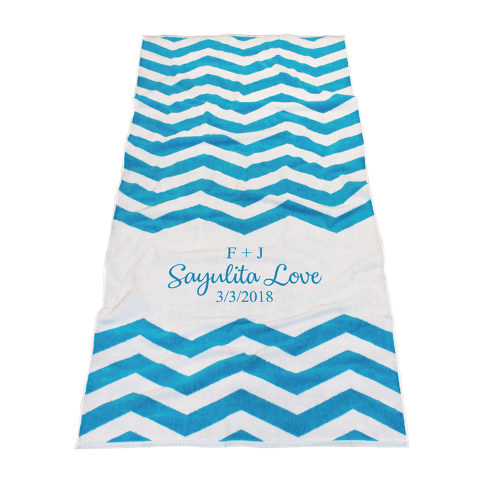 towel transparent beach turquoise