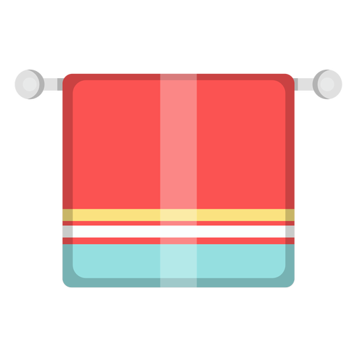Towel vector icon. Bathroom transparent png svg