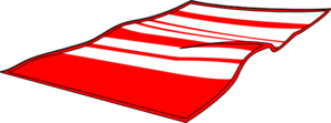 Towel vector beach. Red clip art at