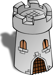 Tower clipart. Round clip art at