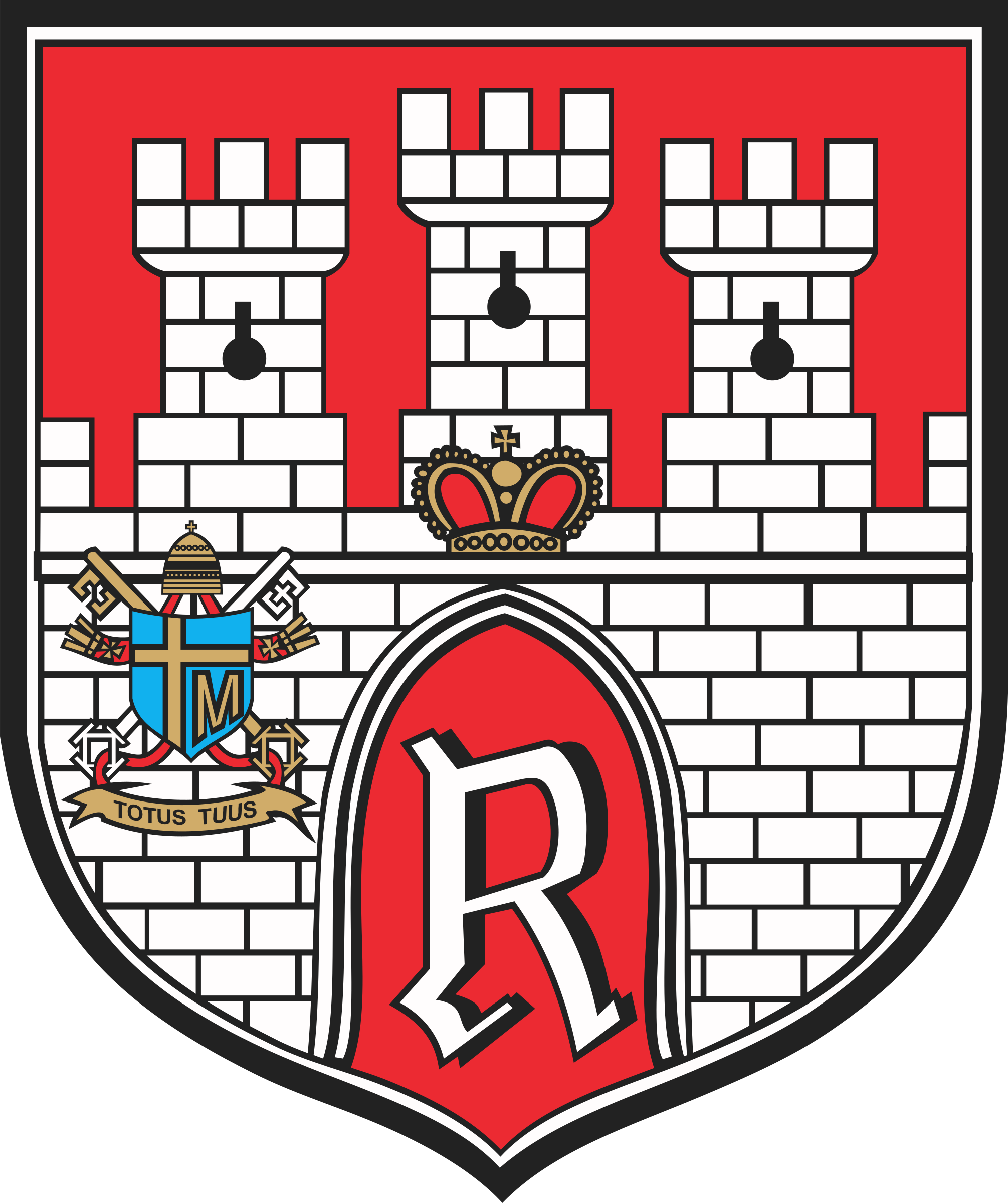 Tower clipart coat arm. Radom of arms big