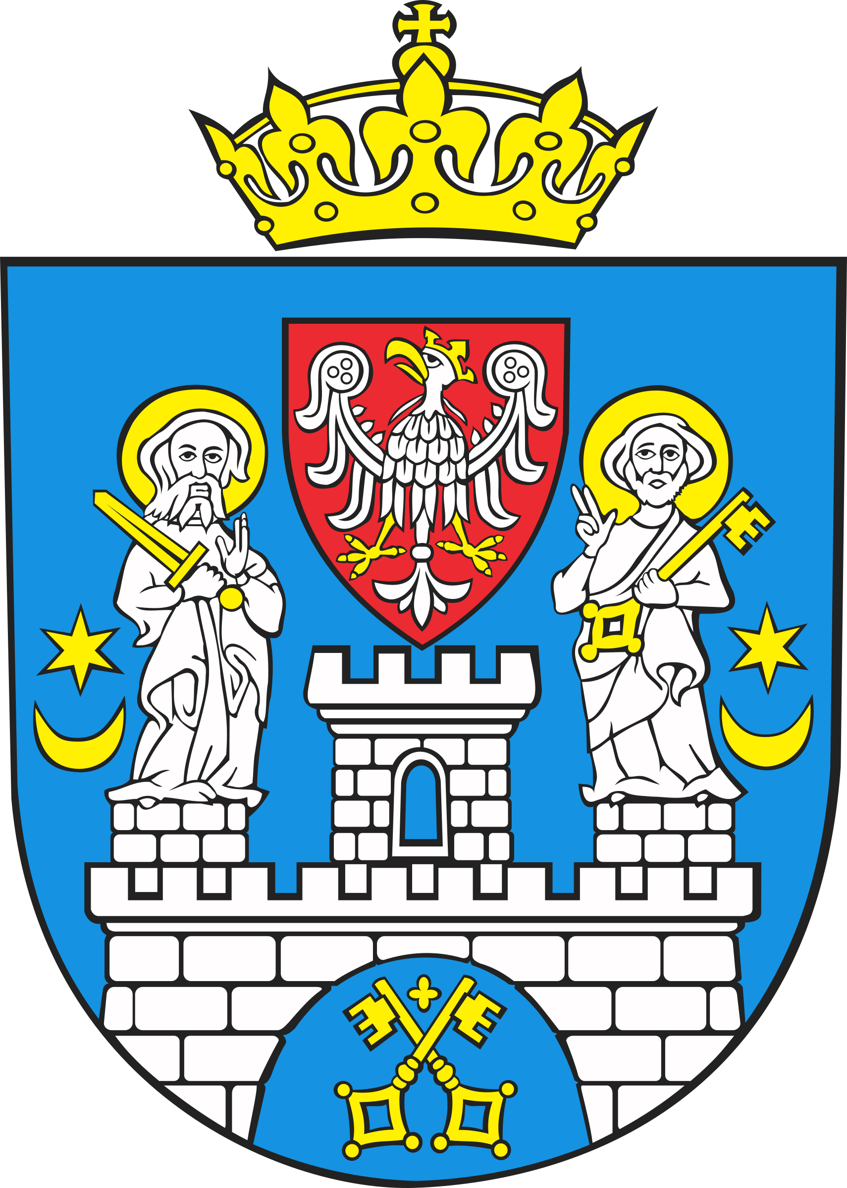 Tower clipart coat arm. Poznan of arms big