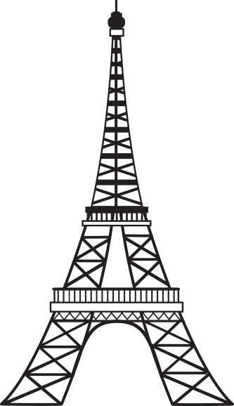 Tower clipart eiffel. Simple drawing at getdrawings