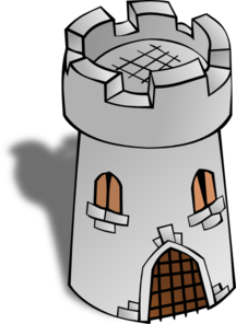 Tower clipart meaning. Rpg map round symbol