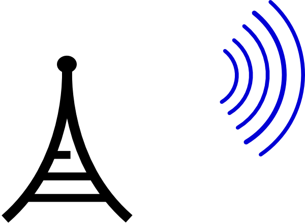 Tower clipart radio. Separate waves clip art