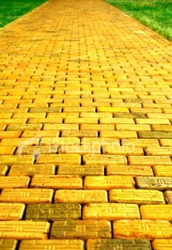 Town clipart brick road. Best yellow images