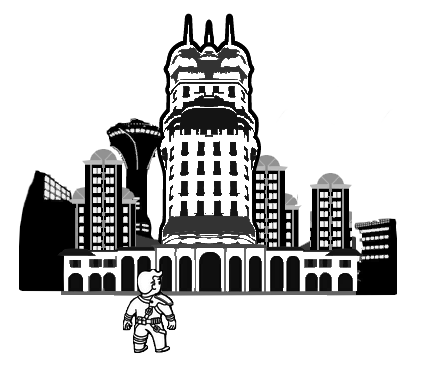 Town clipart crowded city. Fallout wiki fandom powered