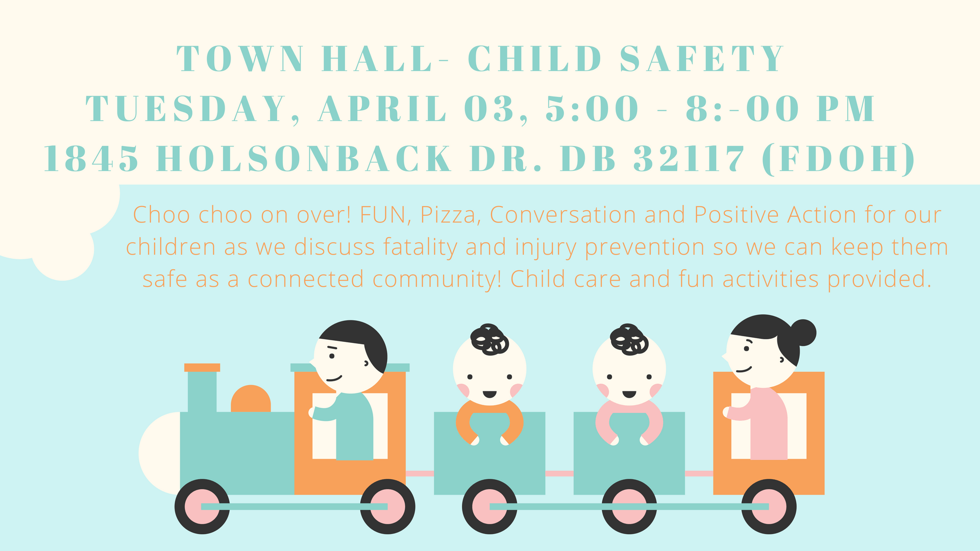 Town clipart kind community. April child safety hall
