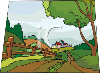 Village clipart twon. Country lane