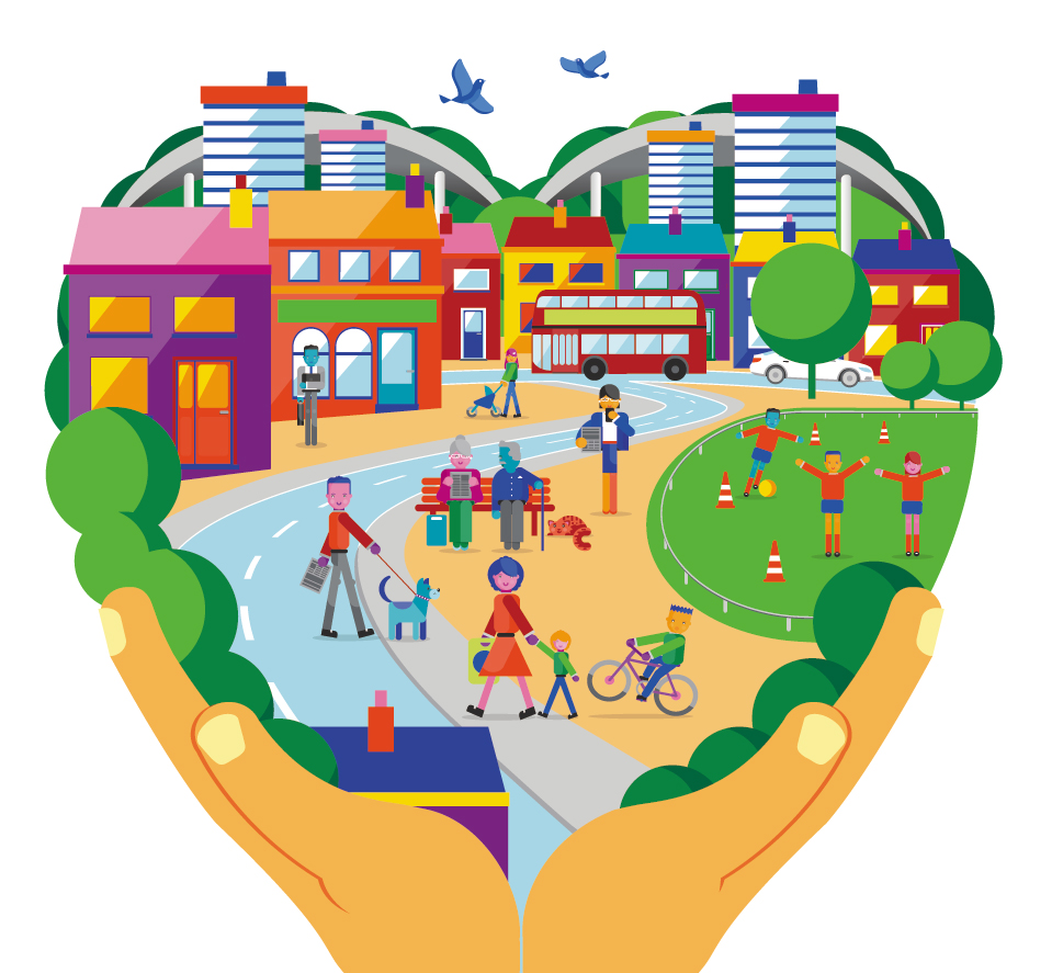 Town clipart local community. Million votes projects