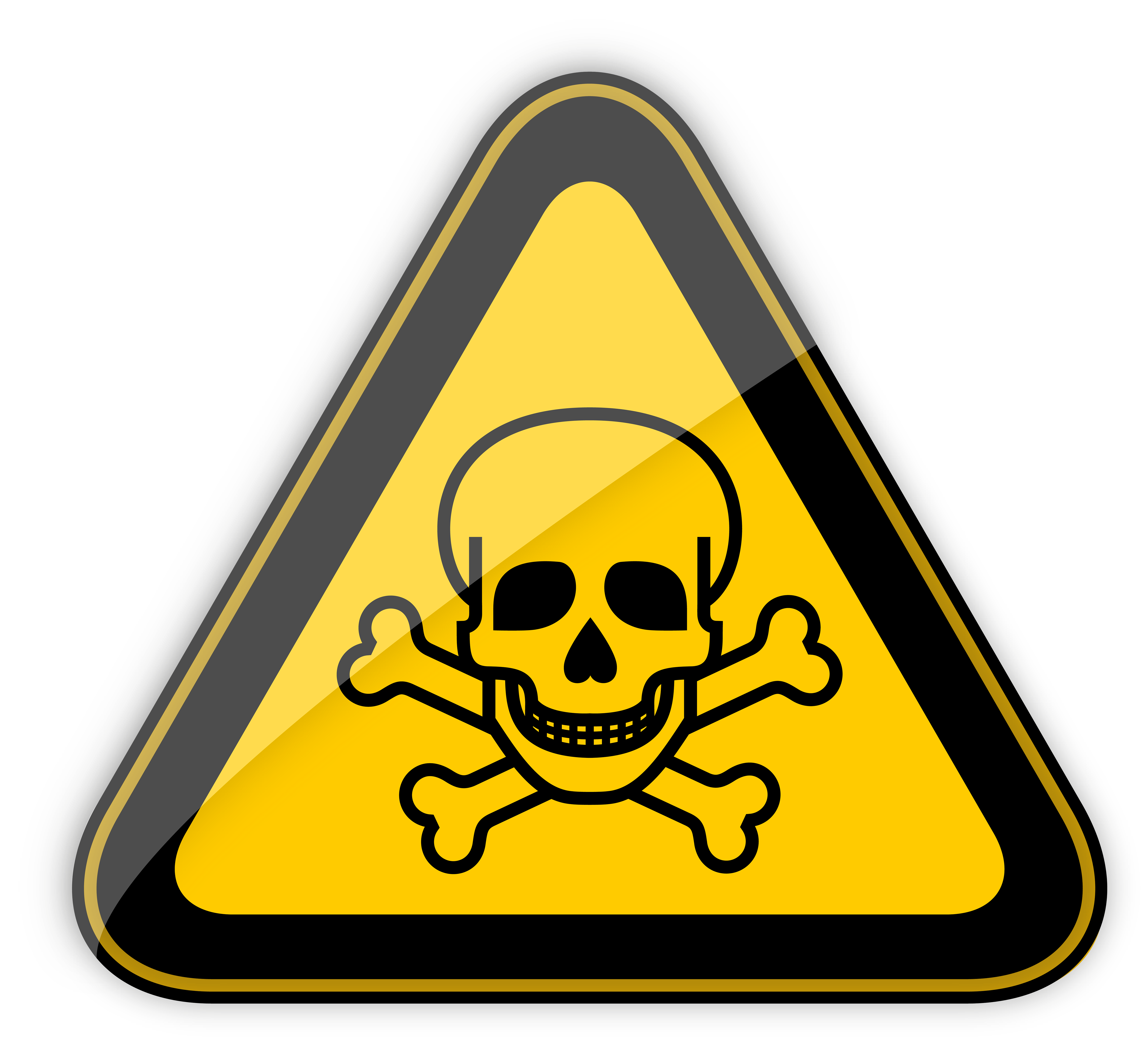 Warning sign png clipart. Toxic transparent image black and white download