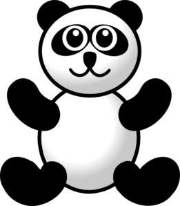 Panda clip art at. Toy clipart banner stock