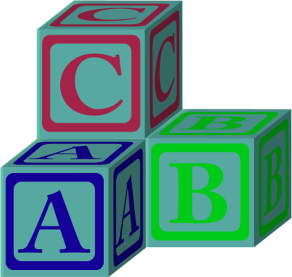 Toy clipart simple. Abc blocks group with