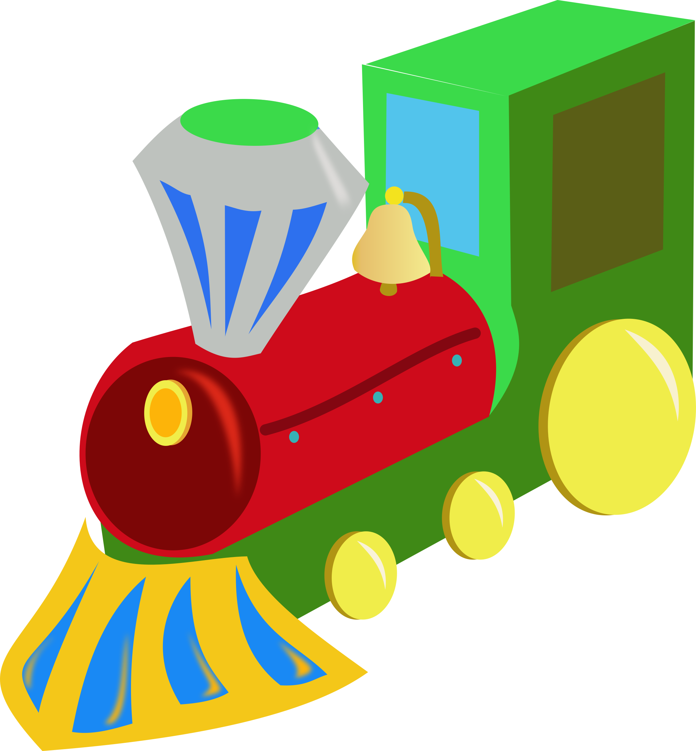 Vector trains western. Christmas toys clipart at