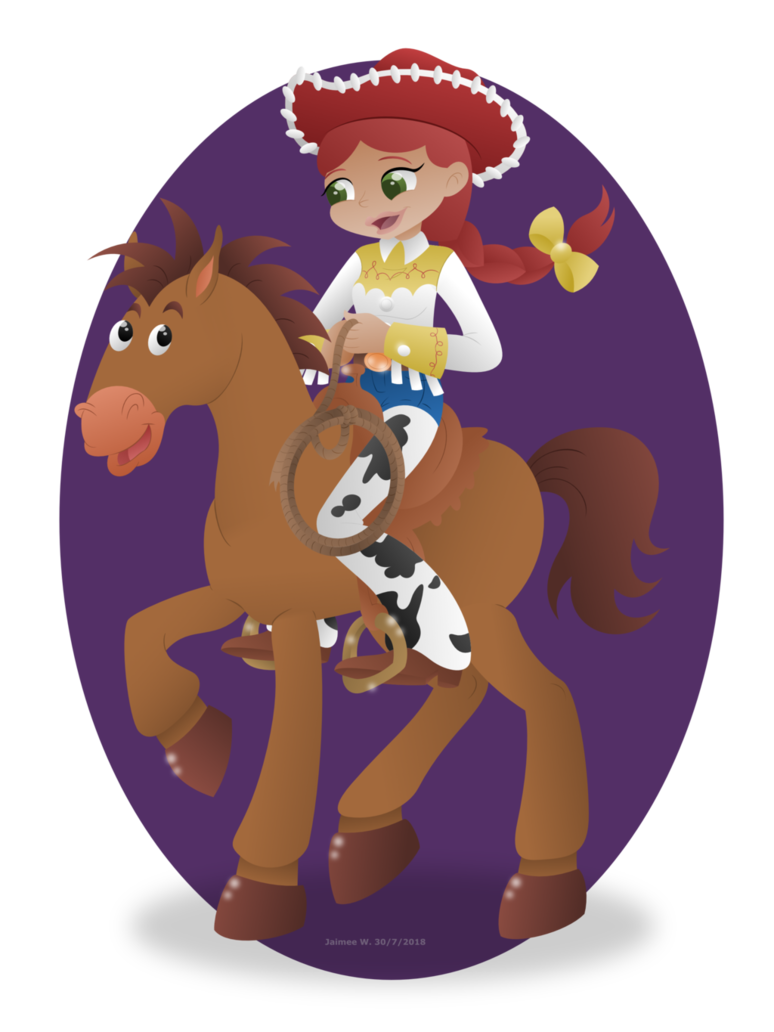 Toy story bullseye png. Jessie on point commission