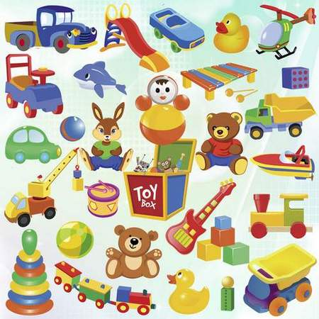Toys clipart. Soft in transparent psd