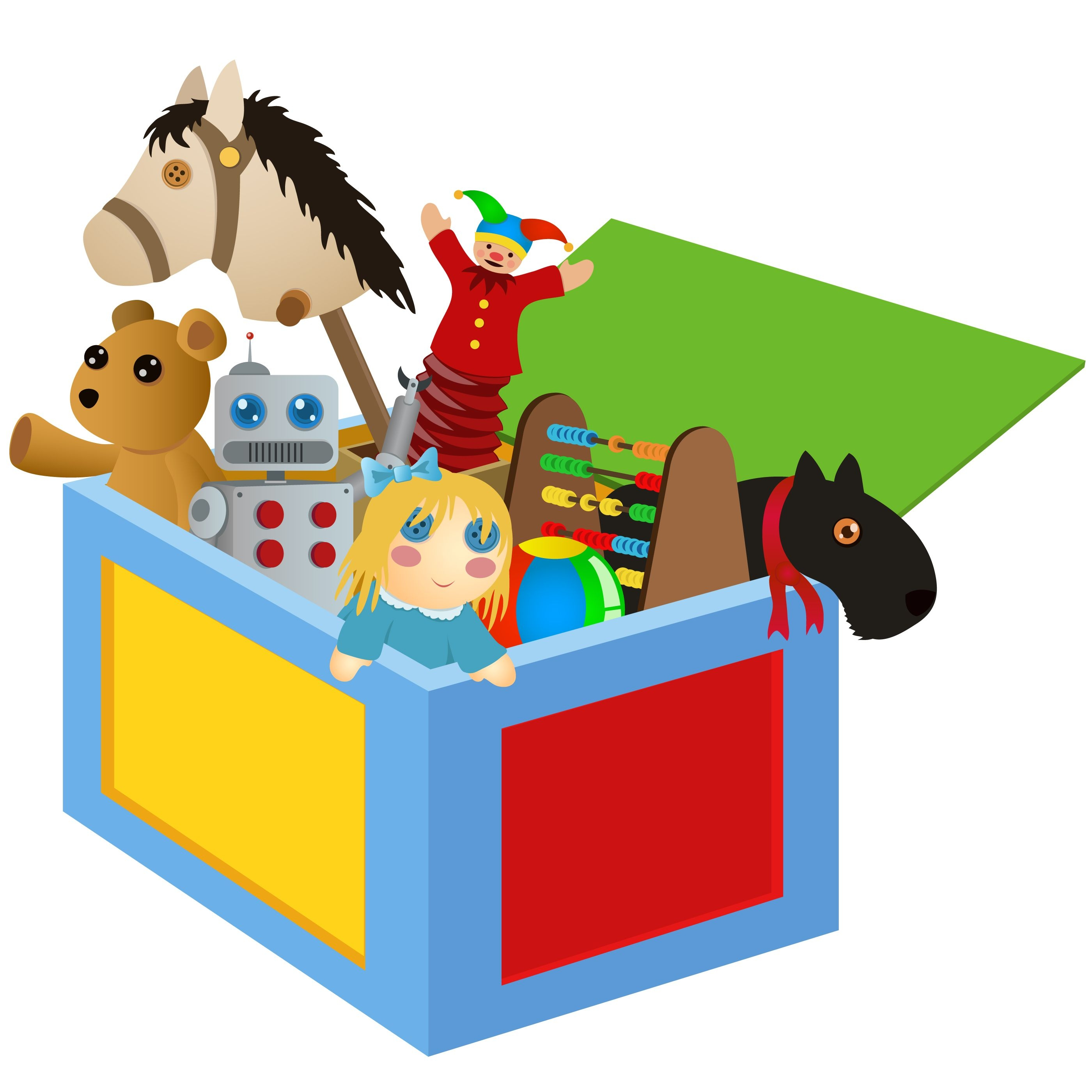 Toys clipart illustration. Fresh toy collection digital