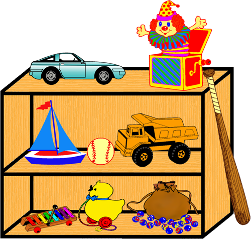 Toys clipart png. Toy shelf by clipartcotttage
