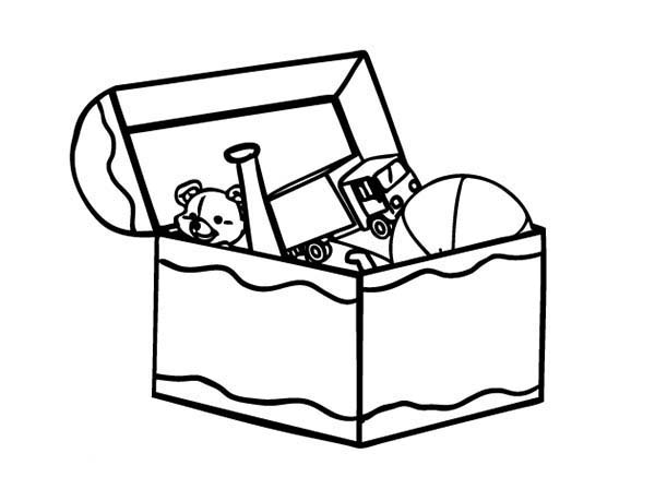 Toys clipart toy bin. Box coloring page comeandseeme