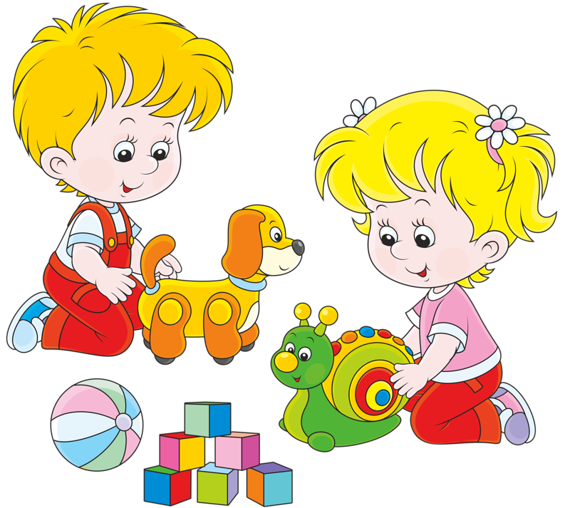 Toys vector. Kids cleaning up