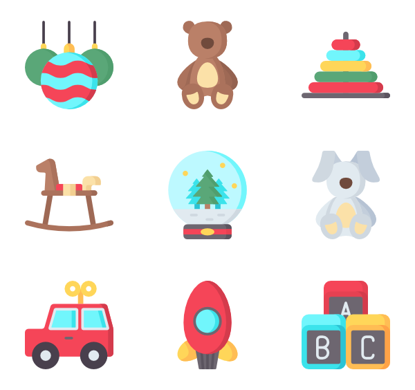 Toys vector car toy. Christmas icon packs
