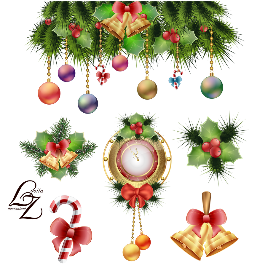 Clock and decoration by. Toys vector christmas tree jpg free stock
