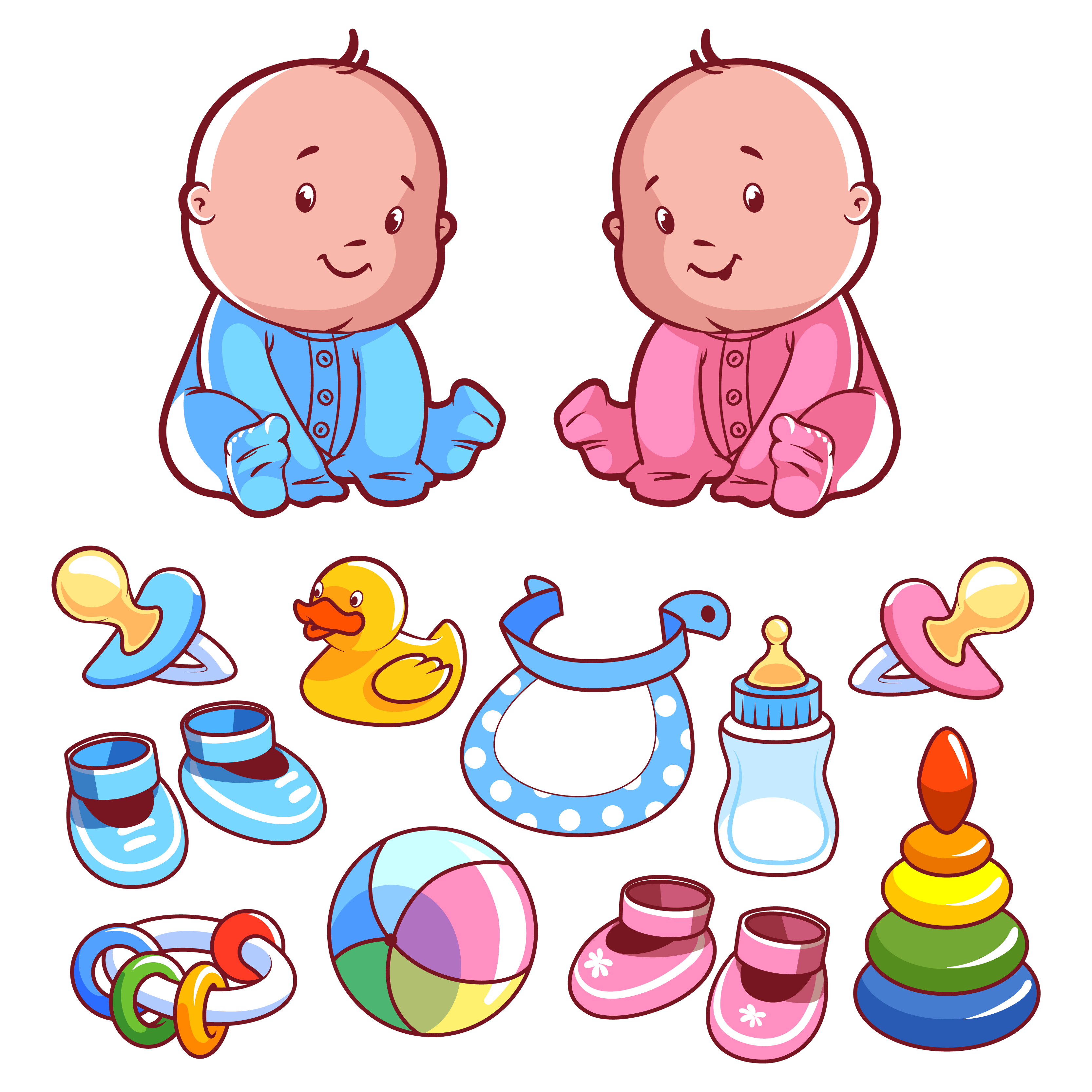 Toys vector toddler. Infant clipart baby play