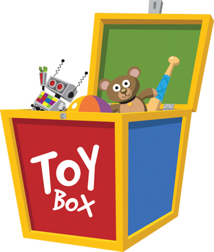 Toys vector toy box. Pinterest views album and