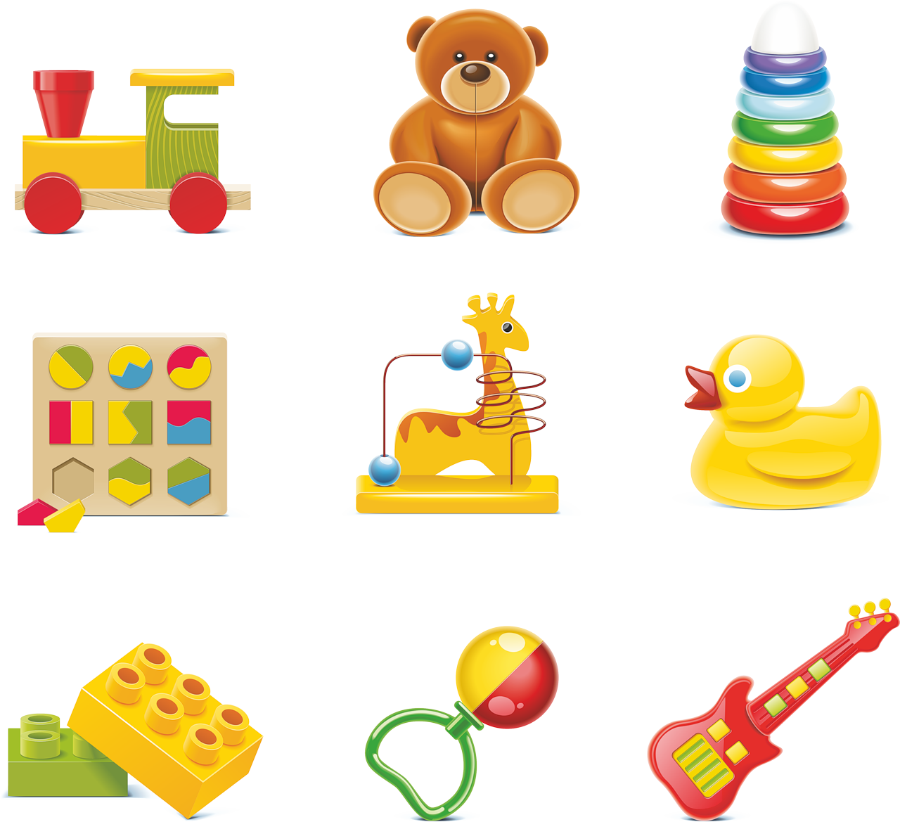 toys vector different kind