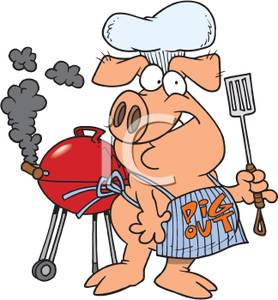 Track clipart pig. A cooking at bbq