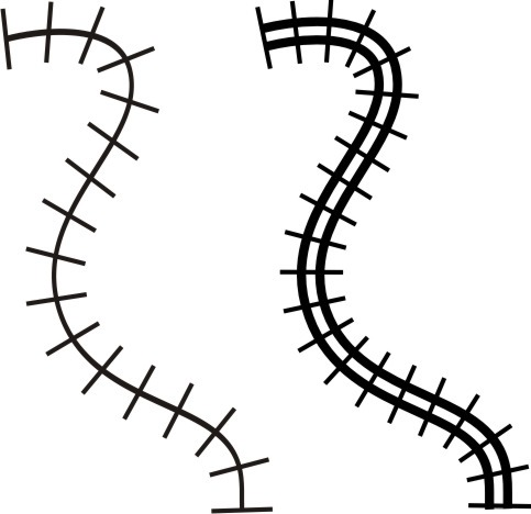 Track clipart railway line. Drawing a coreldraw graphics