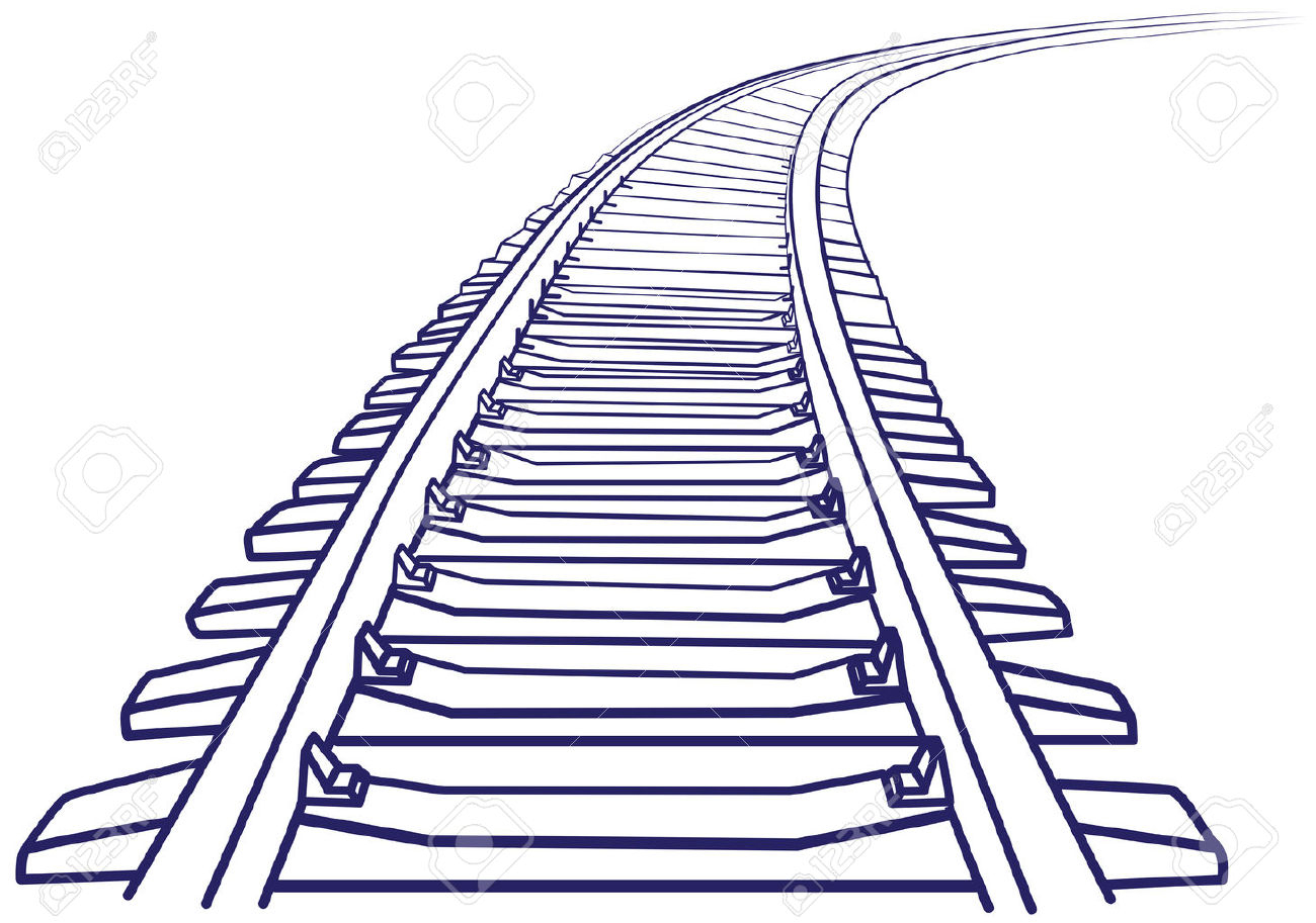 Track clipart railway line. Drawing at getdrawings com