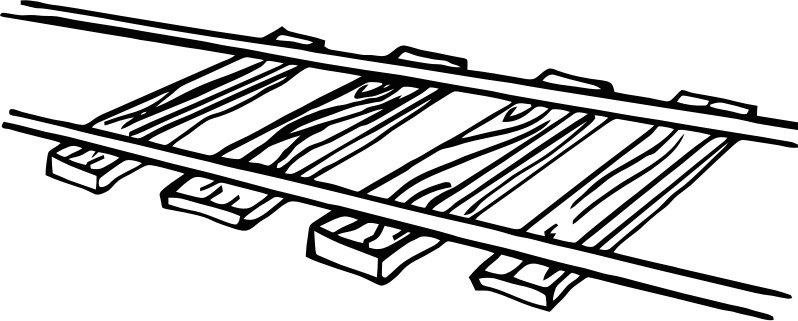 Railway drawing at getdrawings. Track clipart banner black and white
