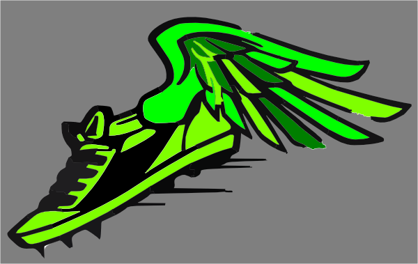 Track clipart track cleat. Green spikes clip art